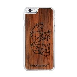 CASE WOODEN SMARTWOODS BEAR CLEAR IPHONE 6 / 6S