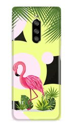 CaseGadget CASE OVERPRINT FLAMINGO AND FLOWERS SONY XPERIA 1