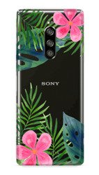 CaseGadget CASE OVERPRINT LEAVES AND FLOWERS SONY XPERIA 1