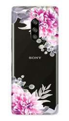 CaseGadget CASE OVERPRINT WHITE FLOWERS SONY XPERIA 1