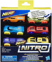 NERF NITRO 6-PACK CARS VARIOUS COLORS
