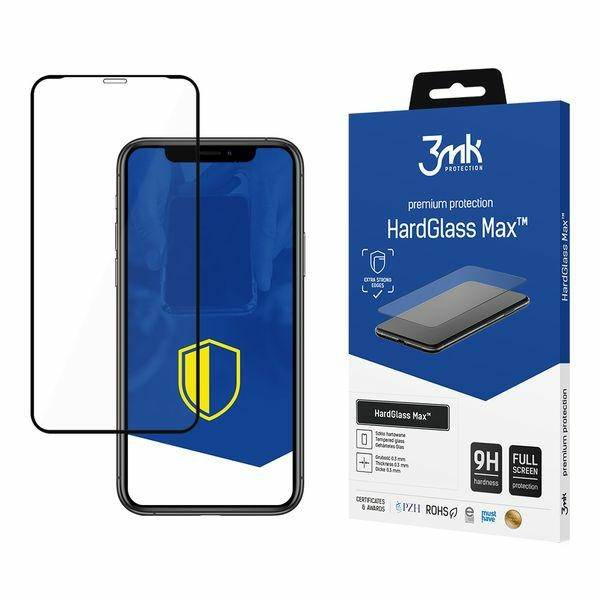 3MK MAX HARD GLASS IPHONE X / IPHONE XS BLACK