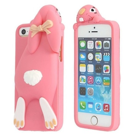 CASE 3D HARE RABBIT PINK IPHONE 6 / 6S