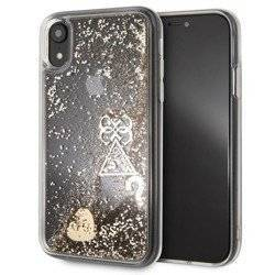 GUESS LIQUID GLITTER HEARTS -ETUI IPHONE XR GUHCI61GLHFLGO ZŁOTY